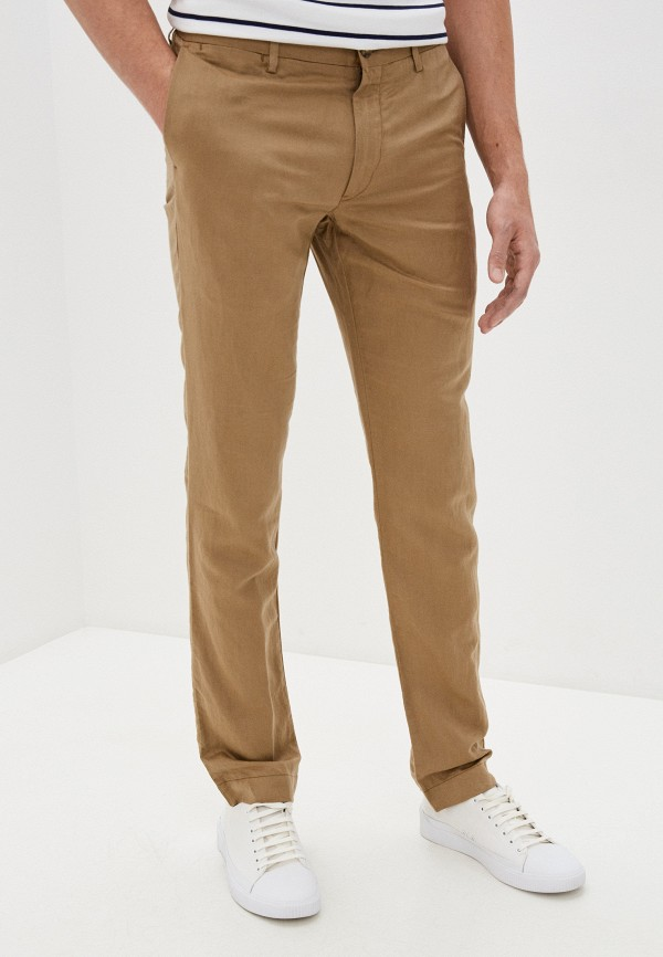 мужские повседневные брюки polo ralph lauren, бежевые