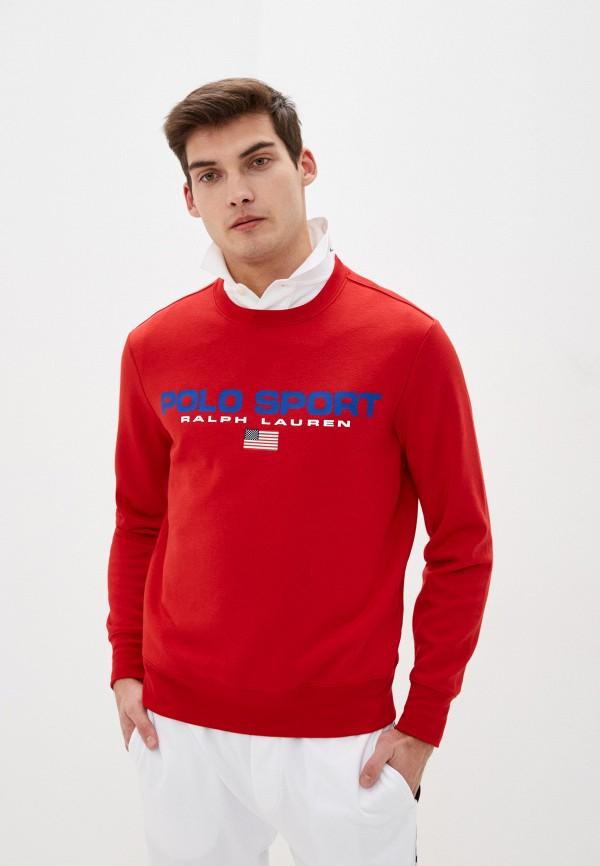 мужской свитшот polo ralph lauren, красный
