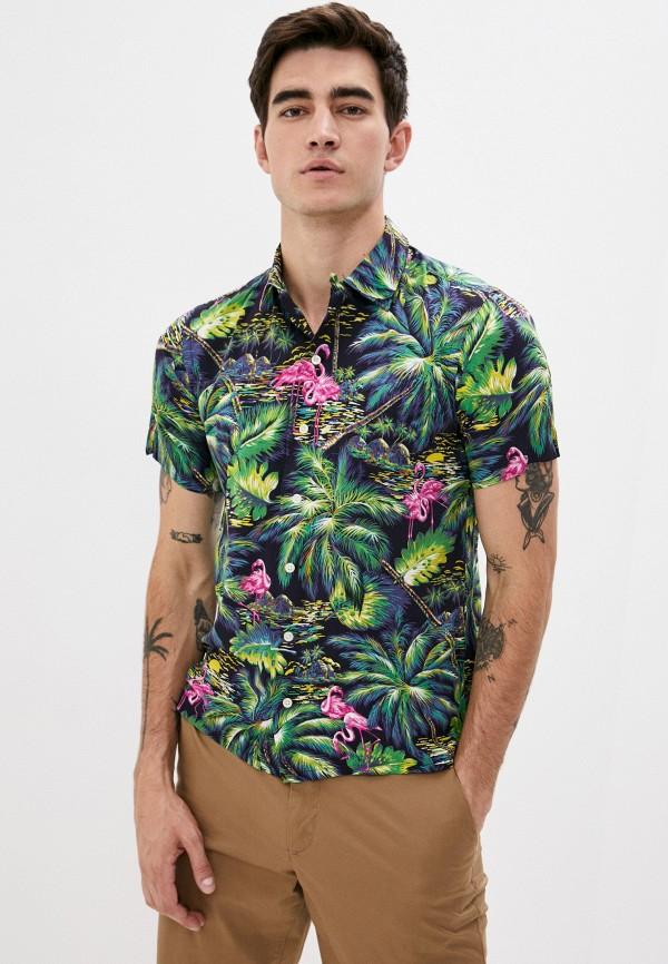 мужская рубашка с коротким рукавом polo ralph lauren, разноцветная