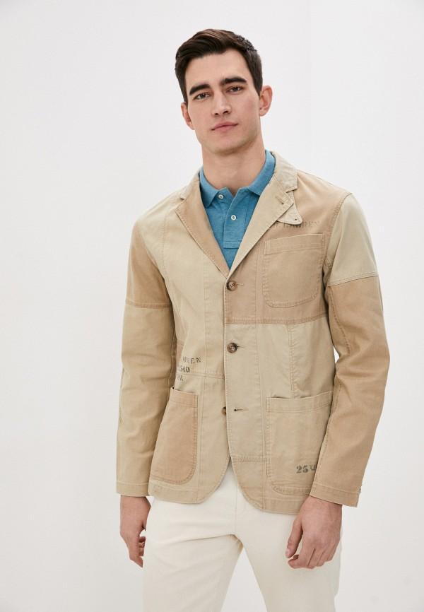 мужской пиджак polo ralph lauren, бежевый