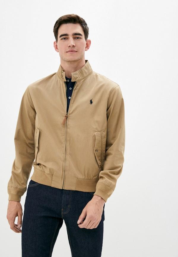 мужская куртка polo ralph lauren, бежевая