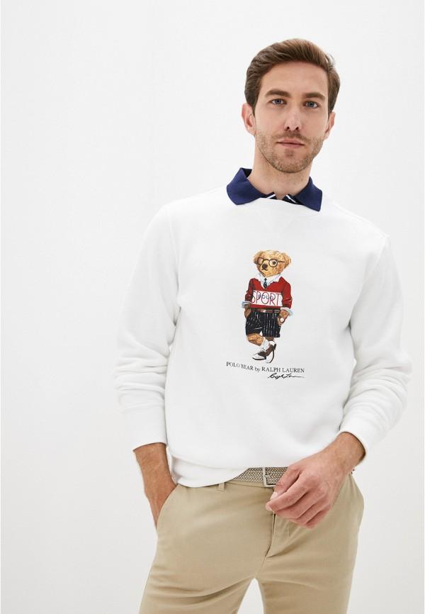 мужской свитшот polo ralph lauren, белый