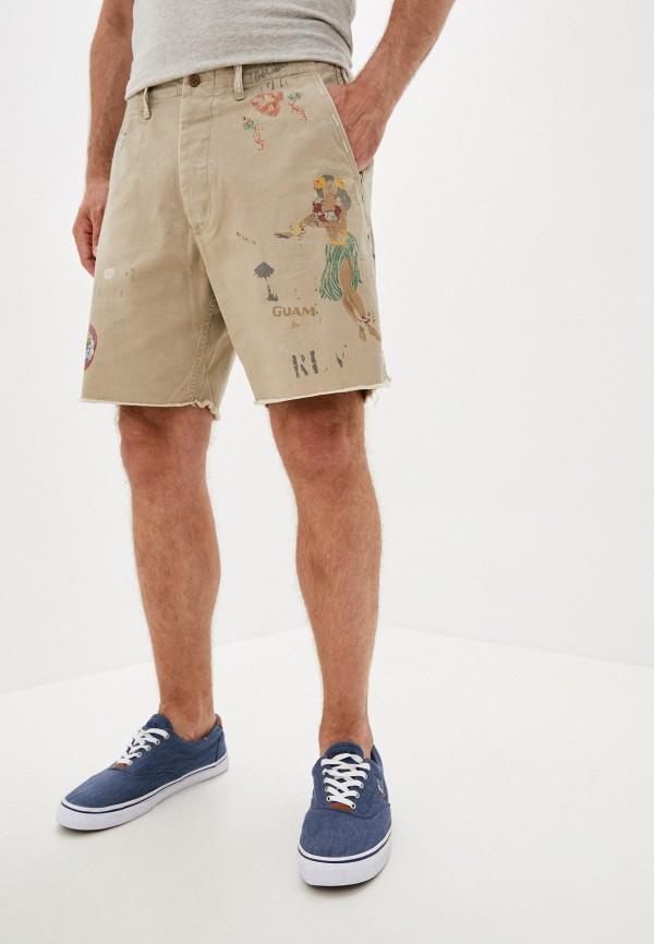 мужские повседневные шорты polo ralph lauren, бежевые