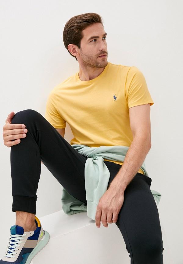 мужская футболка polo ralph lauren, желтая