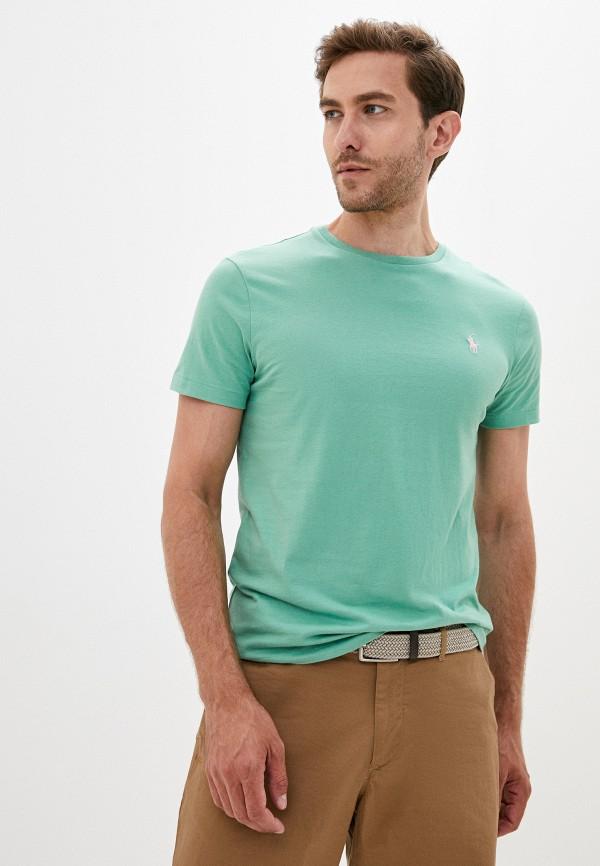 мужская футболка polo ralph lauren, зеленая