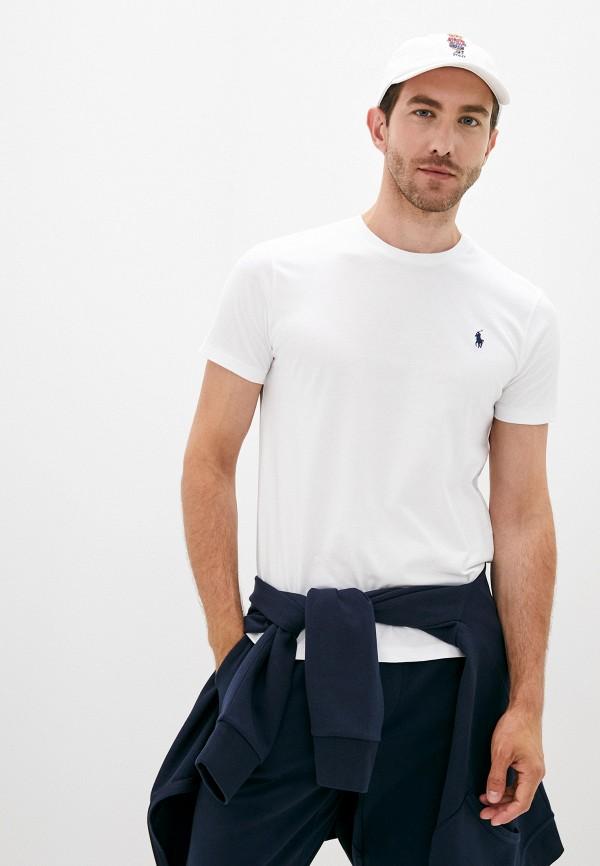 мужская футболка polo ralph lauren, белая
