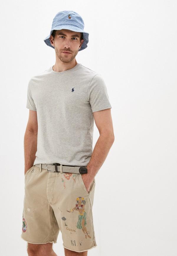 мужская футболка polo ralph lauren, серая