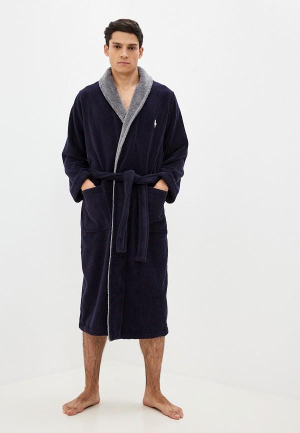 мужской халат polo ralph lauren, синий