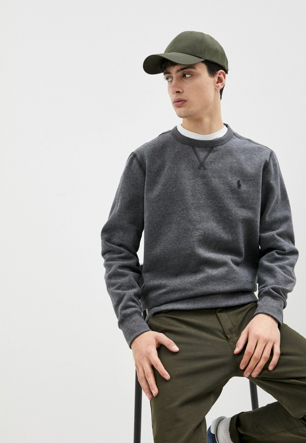 мужской свитшот polo ralph lauren, серый