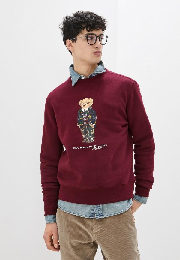 мужской свитшот polo ralph lauren, бордовый