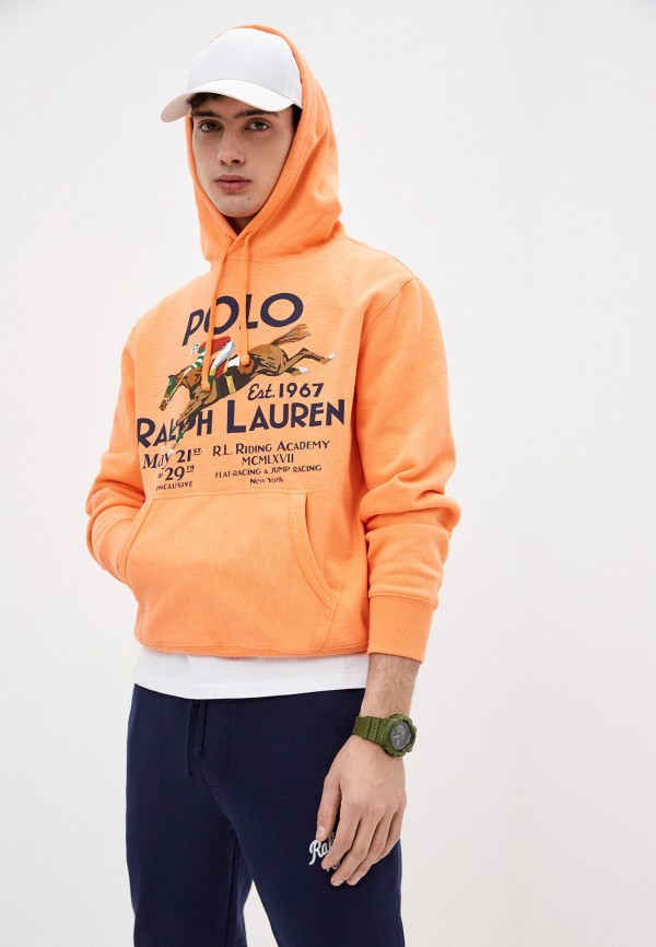 мужские худи polo ralph lauren, оранжевые