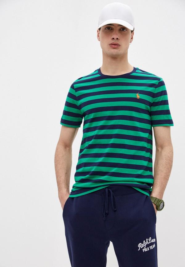 мужская футболка с коротким рукавом polo ralph lauren, зеленая