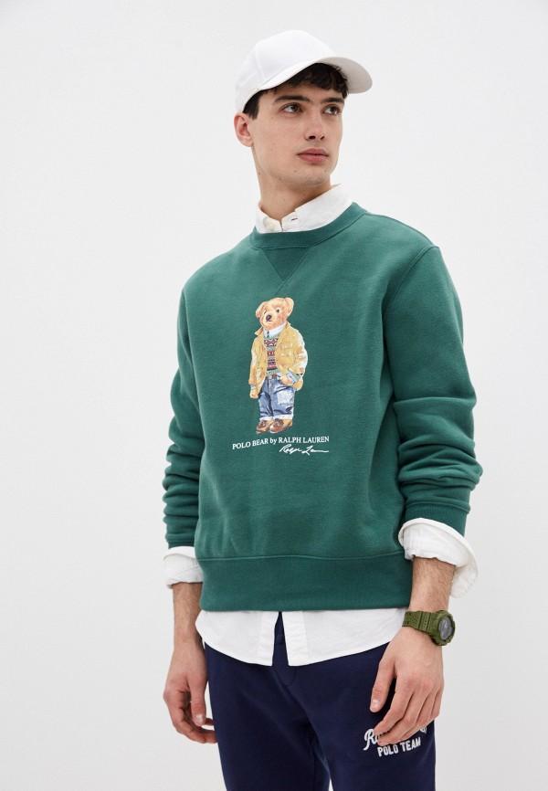 мужской свитшот polo ralph lauren, зеленый