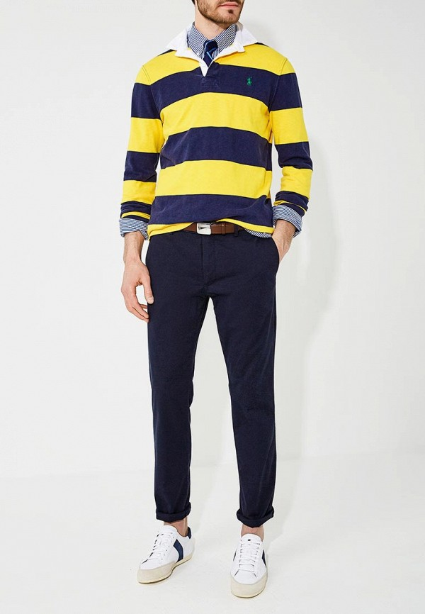 Фото 2 - мужские брюки Polo Ralph Lauren синего цвета