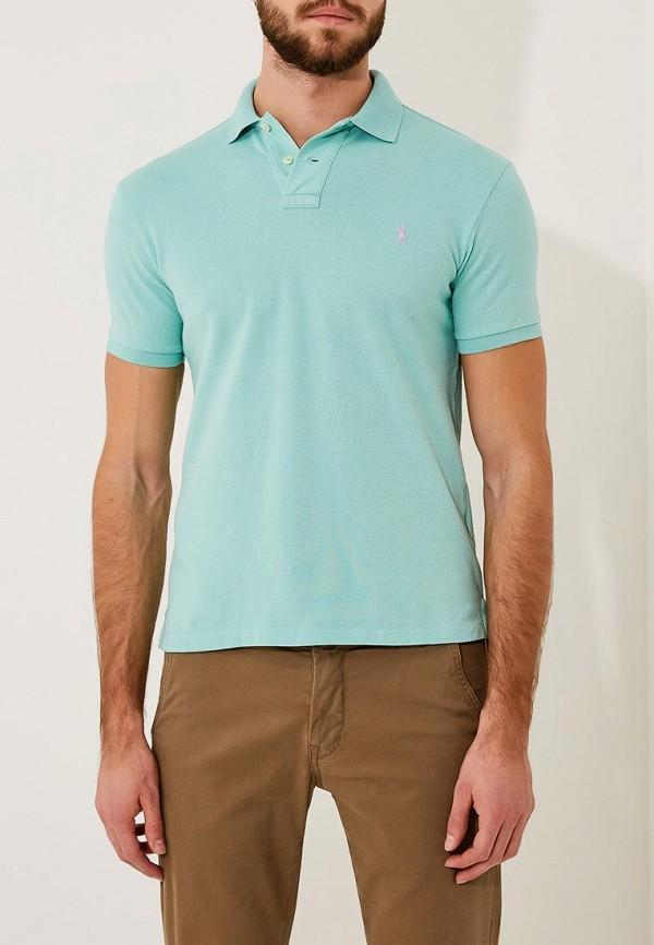 Фото - мужское поло Polo Ralph Lauren бирюзового цвета