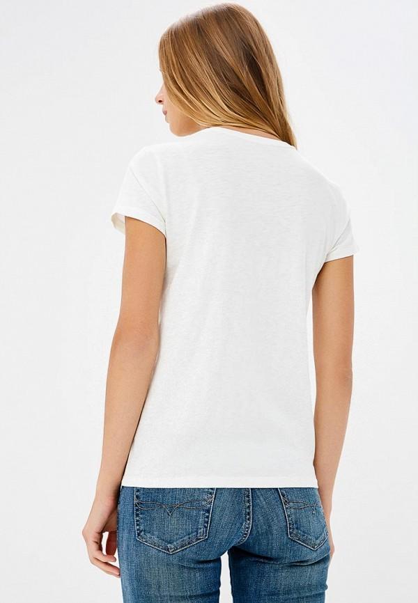 Фото 3 - женскую футболку Polo Ralph Lauren белого цвета