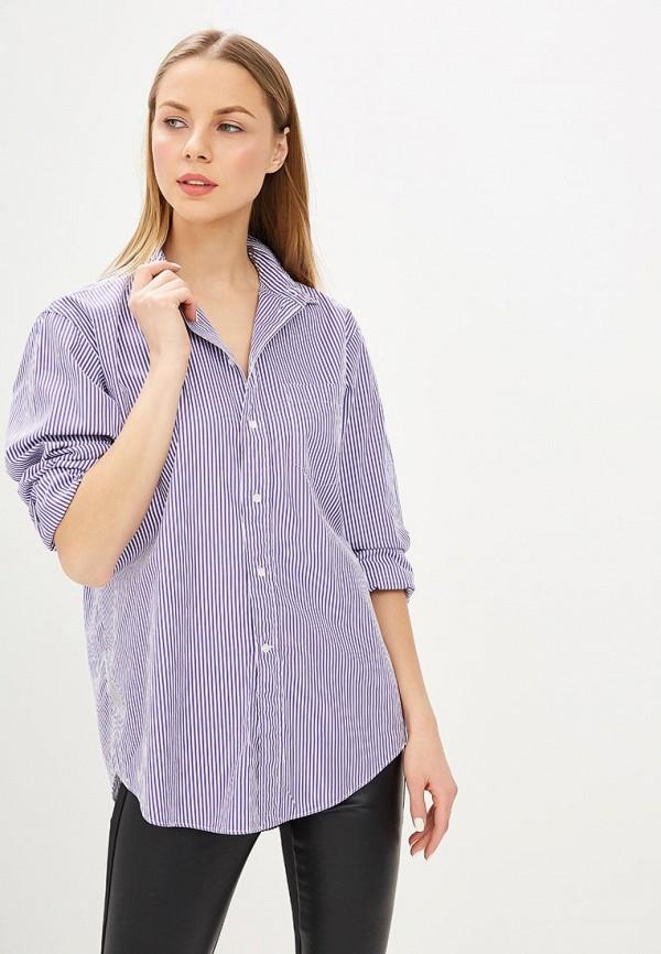 женская рубашка с длинным рукавом polo ralph lauren, фиолетовая