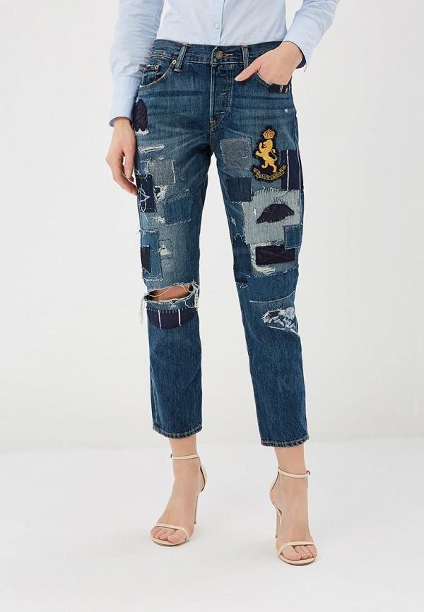 женские джинсы polo ralph lauren, синие