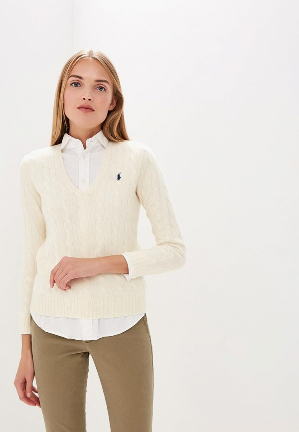 женский пуловер polo ralph lauren, белый