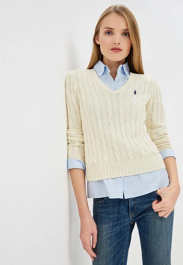 женский пуловер polo ralph lauren, бежевый