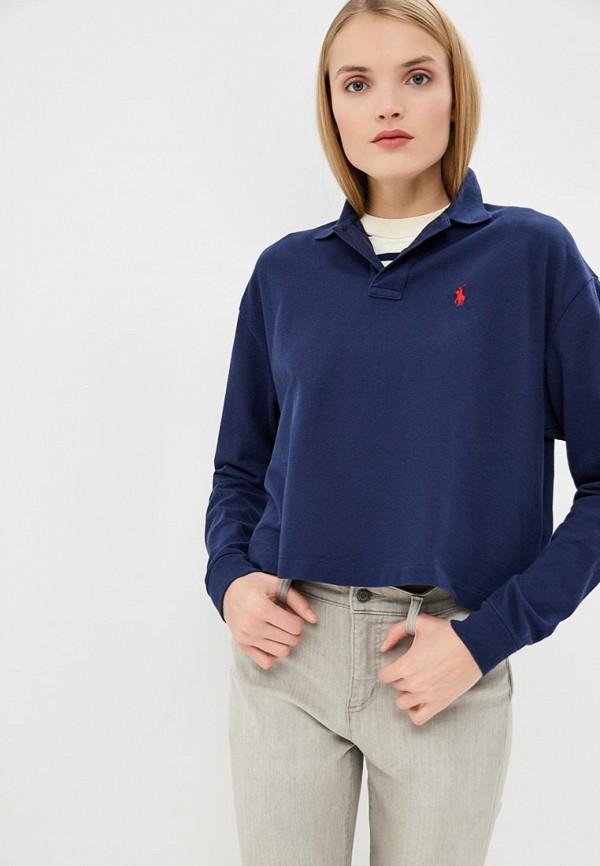 Купить Поло Polo Ralph Lauren, po006ewdmeu3, синий, Весна-лето 2019