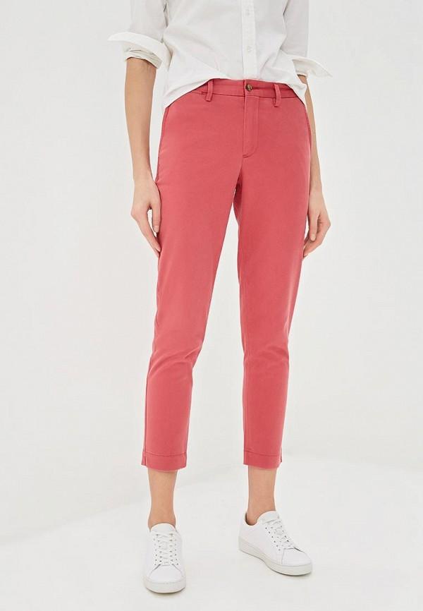 женские повседневные брюки polo ralph lauren, розовые