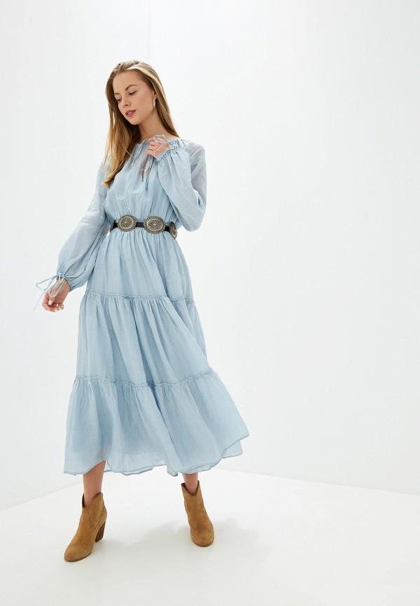 женское повседневные платье polo ralph lauren, голубое