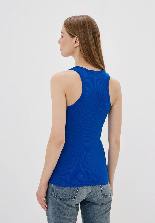 Фото 3 - женскую майку Polo Ralph Lauren синего цвета
