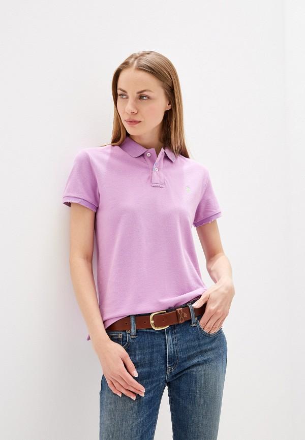 женское поло polo ralph lauren, фиолетовое