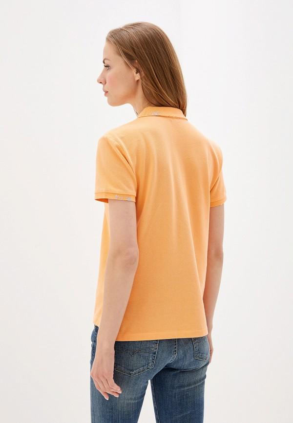 Фото 3 - женское поло Polo Ralph Lauren оранжевого цвета
