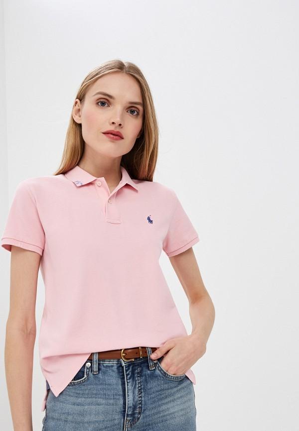 Фото - женское поло Polo Ralph Lauren розового цвета