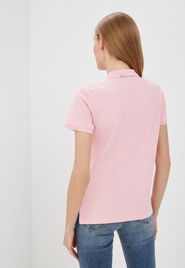 Фото 3 - женское поло Polo Ralph Lauren розового цвета