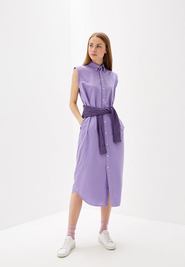 женское платье polo ralph lauren, фиолетовое