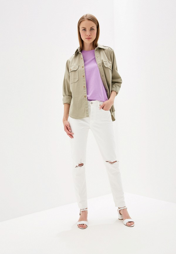 Фото 2 - женские джинсы Polo Ralph Lauren белого цвета