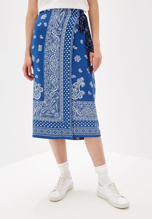 женская прямые юбка polo ralph lauren, синяя