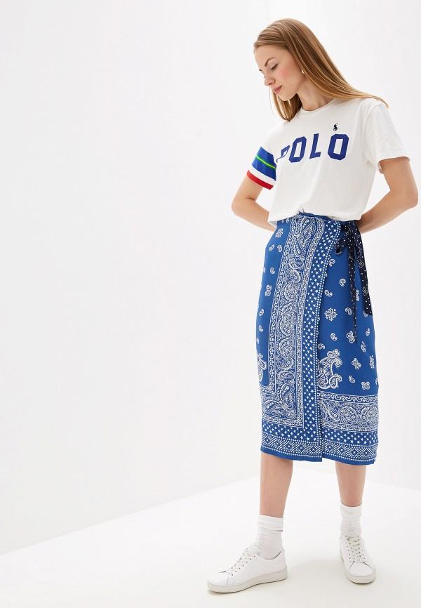 Фото 2 - женскую юбку Polo Ralph Lauren синего цвета