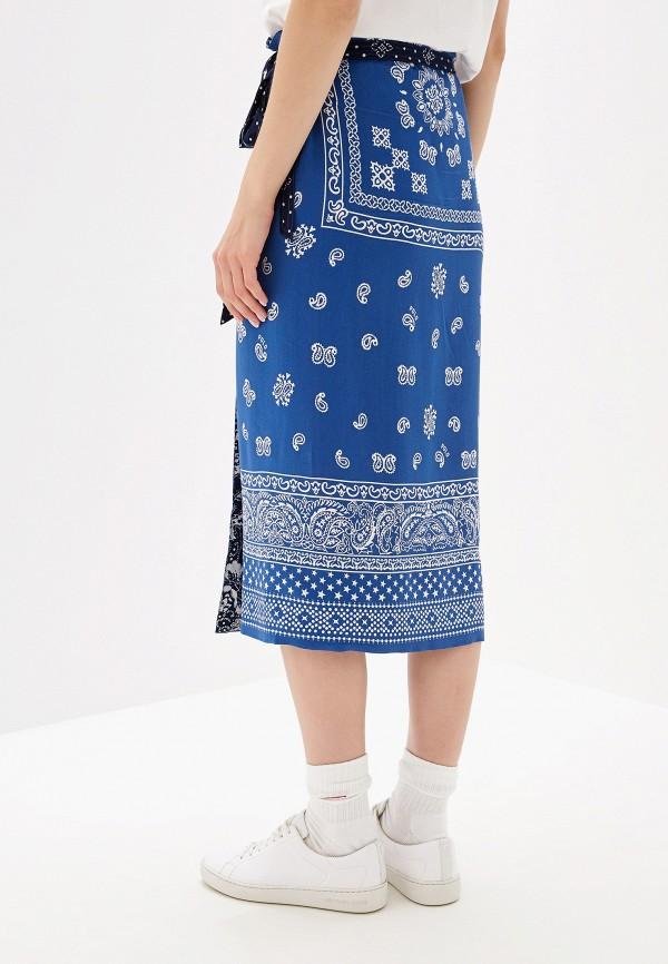 Фото 3 - женскую юбку Polo Ralph Lauren синего цвета
