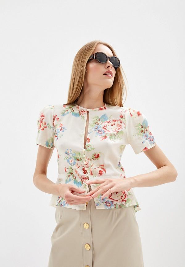 женская блузка polo ralph lauren, бежевая