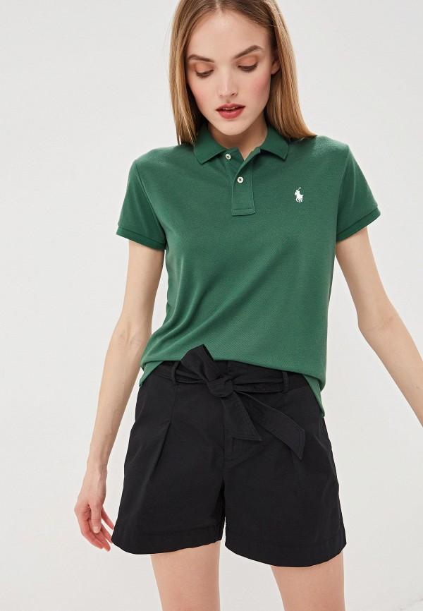 Фото - женское поло Polo Ralph Lauren зеленого цвета