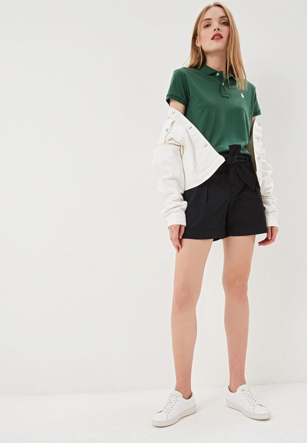 Фото 2 - женское поло Polo Ralph Lauren зеленого цвета