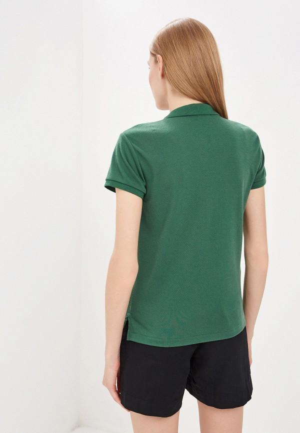 Фото 3 - женское поло Polo Ralph Lauren зеленого цвета