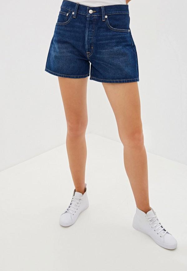 женские джинсовые шорты polo ralph lauren, синие