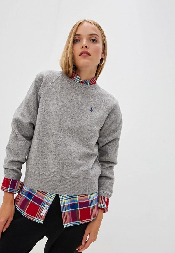 женский свитшот polo ralph lauren, серый