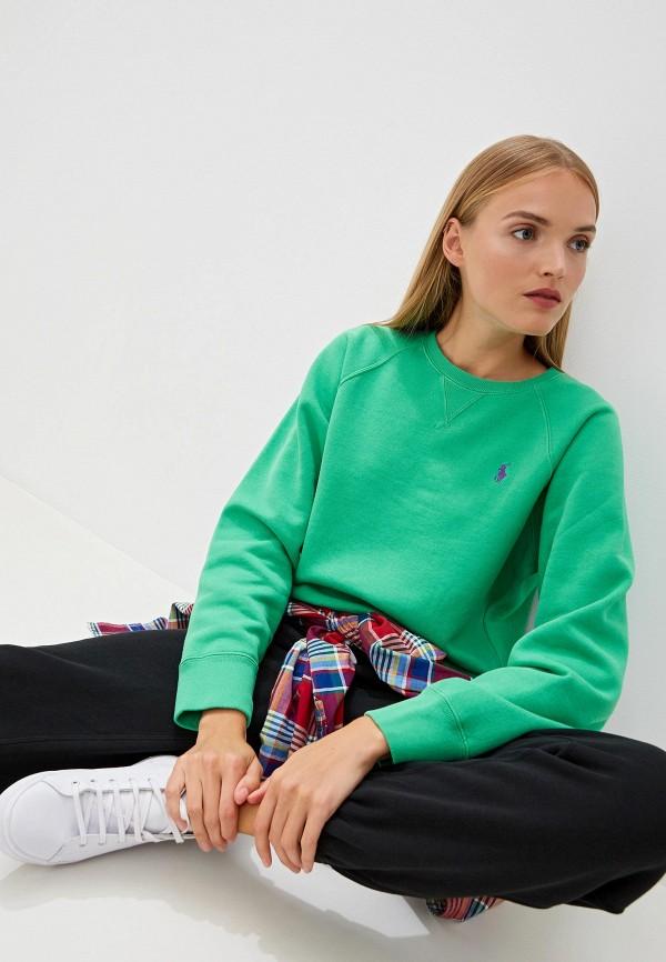 женский свитшот polo ralph lauren, зеленый