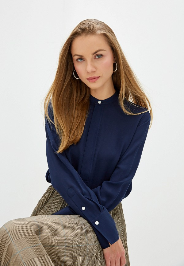 женская блузка polo ralph lauren, синяя