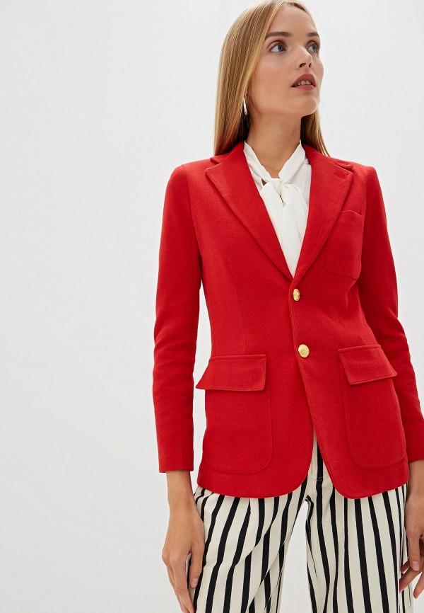 женский пиджак polo ralph lauren, красный