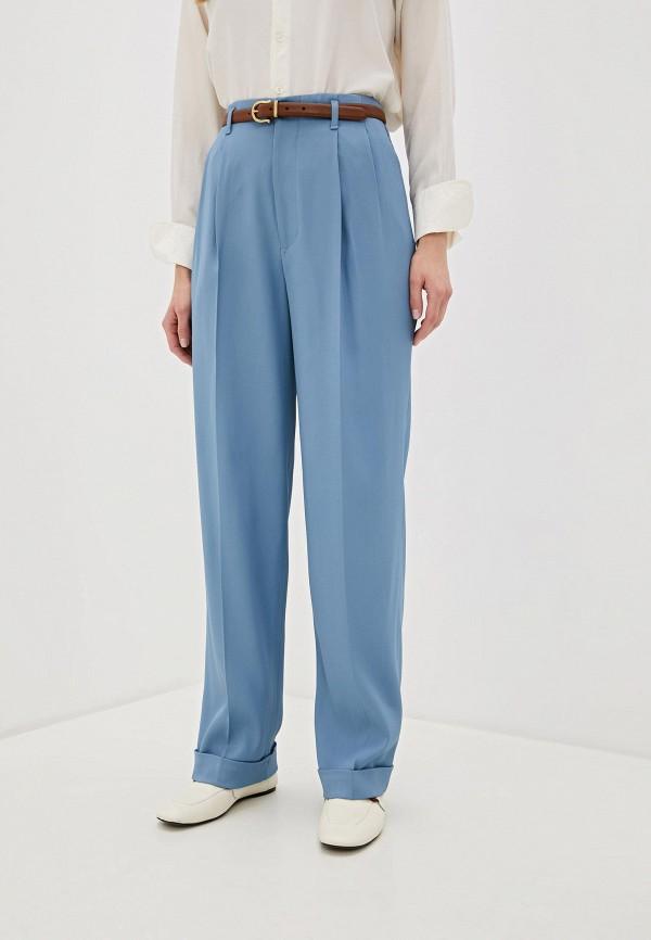 женские классические брюки polo ralph lauren, голубые