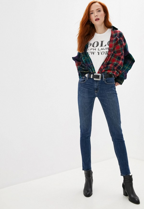 Фото 2 - женские джинсы Polo Ralph Lauren синего цвета