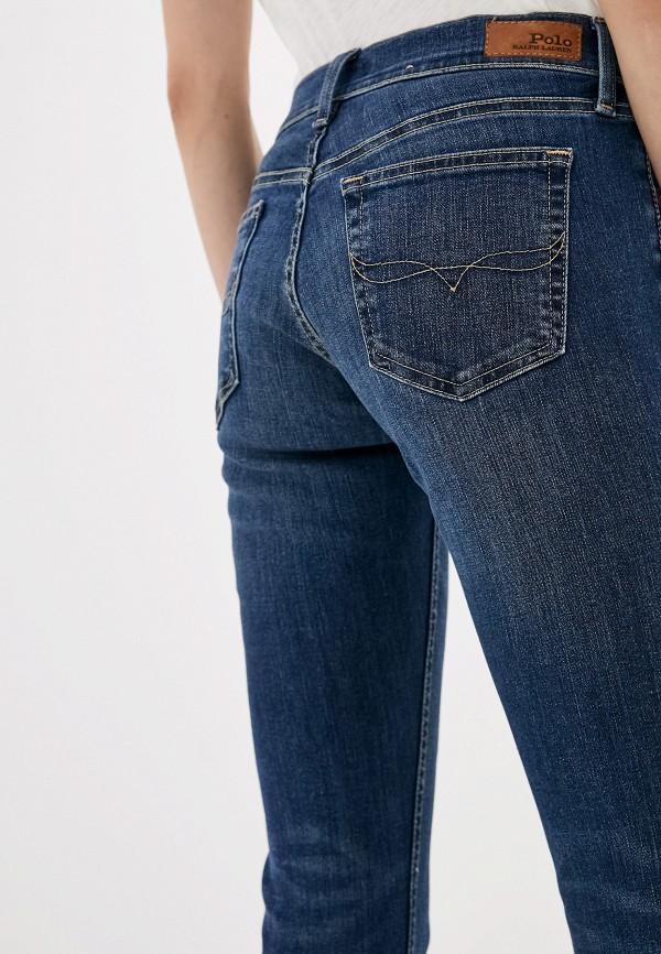 Фото 4 - женские джинсы Polo Ralph Lauren синего цвета