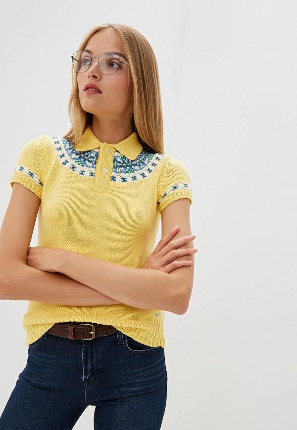 Купить Женское поло Polo Ralph Lauren желтого цвета